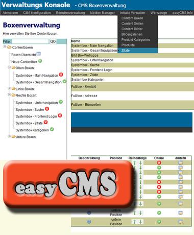 easyCMS Übersicht